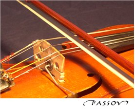 Chord viola bridge down: chord playing