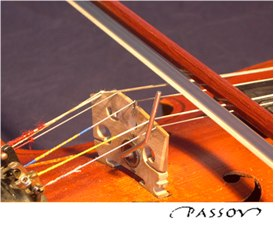 Chord viola bridge up: normal playing