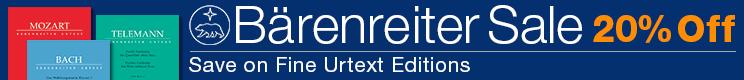 20% off Baerenreiter editions for viola