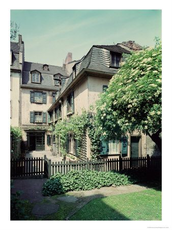 Back of Beethoven's house in Bonn, where he was born and where his viola is kept