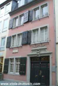 Beethoven's house in Bonn, where he was born. It is now a museum and it's where his viola is kept