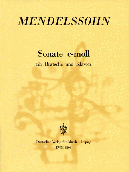 Buy Mendelssohn Viola Sonata printed sheet music, various editions