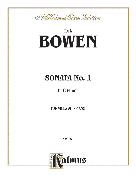 York Bowen: Sonata No. 1 in C Minor. Buy sheet music