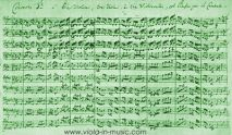 Facsimile of Brandenburg Concerto 3 for 3 violins, 3 violas, 3 basses. Another composition where Bach gives violas an important role