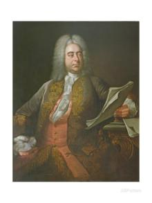 Portrait of Georg Friederich Handel, famous
