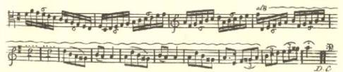 Facsimile of Carl Stamitz Viola concerto first edition (1744), third movement, Rondo, with ascending scale possibly reaching the 11th position?