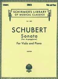 Buy Franz Schubert's Arpeggione Sonata sheet music, various editions