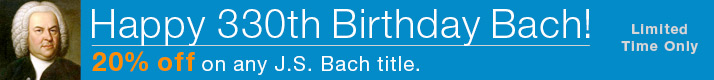 Save 20% on any Bach Music