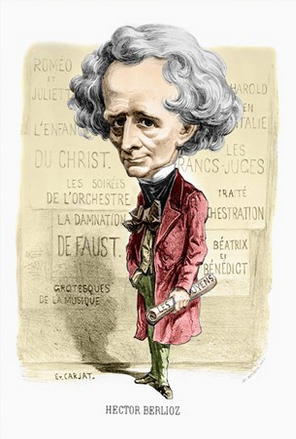 Caricature of Hector Berlioz. Buy this poster