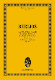 Harold in Italy, Symphony with solo viola by Hector Berlioz. Buy sheet music