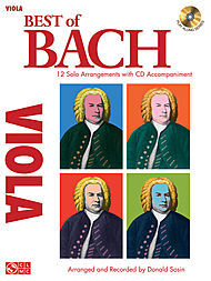 Best of Bach sheet music arrangements for viola with CD