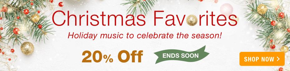 Christmas favorites printed sheet music 20% off ends soon