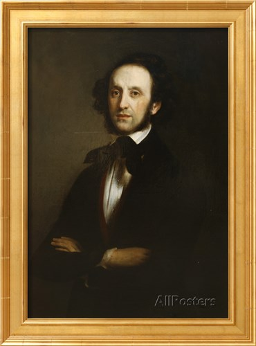 Felix Mendelssohn's portrait <br>Buy this poster and others