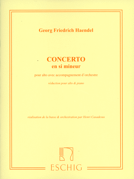 Handel Viola Concerto sheet music<br>Buy score and parts