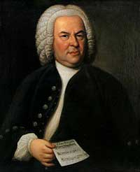 "Portrait of Johann Sebastian Bach. ""... as the greatest expert and judge of harmony, he liked best to play the viola"" as reported by his son C. P. E. Bach"