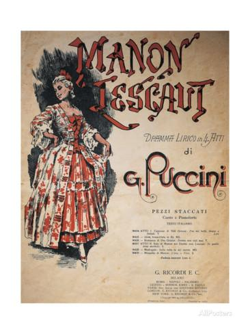 Puccini, Manon Lescaut. Buy this poster