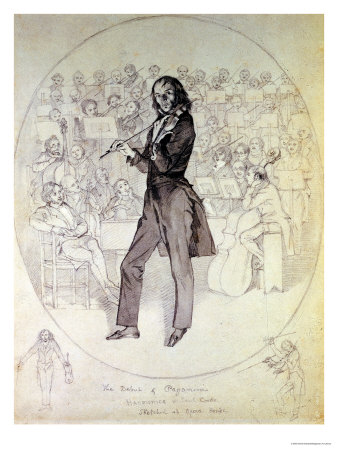 Very few know that, besides violin, Paganini played guitar and viola