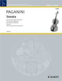Paganini played the viola. Buy Paganini sheet music. Paganini, Sonata per la Grand' Viola and orchestra.