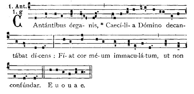 Cantantibus organis. Why is Saint Cecilia patron saint of musicians? Did she play the viola?