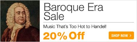 Find your viola Baroque music ans save 20% on Bach, Corelli, Eccles, Biber, Haendel, Graupner, Graun, Marais, Marcello, Telemann, Vivaldi and more!
