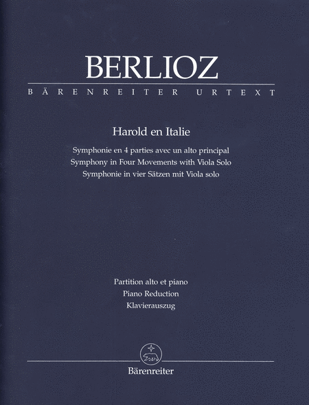 Buy Harold in Italy, Symphony with solo viola by Hector Berlioz. Sheet music, score and parts