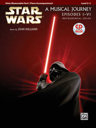 Star Wars Viola Solos with sheet music orchestra accompaniment CD