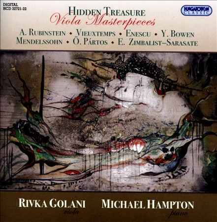 Buy Viola Masterpieces: CD with Mendelssohn Viola Sonata and works by Anton Rubinstein, Henri Vieuxtemps, George Enescu, York Bowen, Oedoen Partos, Efrem Zimbalist