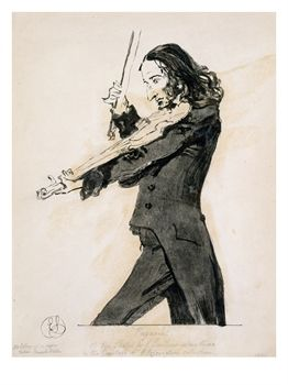 Buy Niccolò Paganini's portrait - Famous violin player who played viola