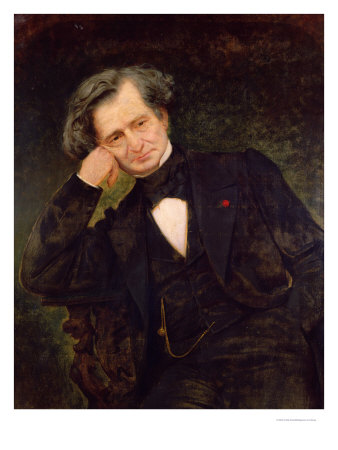 Hector Berlioz, portrait by Achille Peretti. Read about Berlioz and the viola