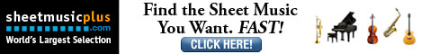 Find the sheet music you want. Fast. All instruments, largest selection in the world