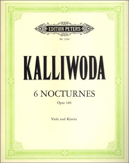 Jan Kalliwoda: sheet music for Nocturnes for viola and piano and other viola music