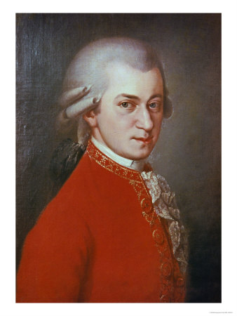 Portrait of Wolfgang Amadeus Mozart who, among other things, played the viola and composed great music for it