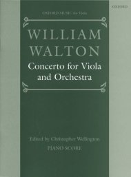 Walton: Concerto for viola and orchestra, sheet music Piano reduction & full score